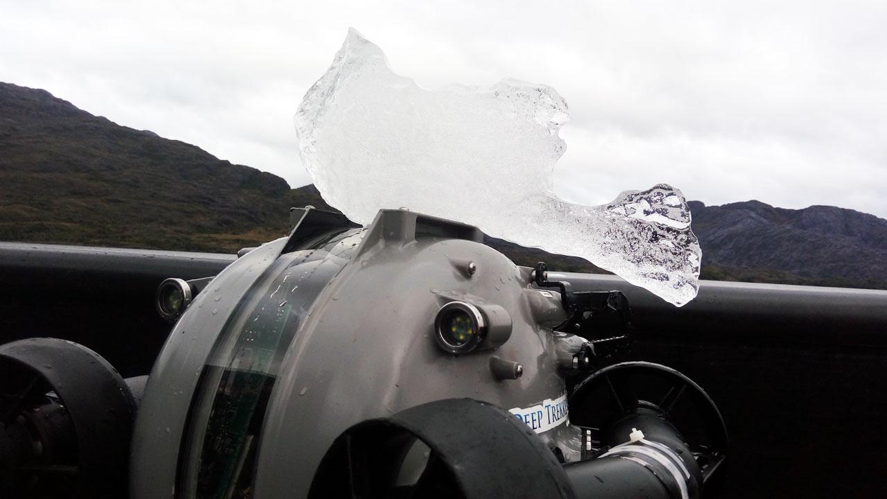 Rov en terreno con hielo