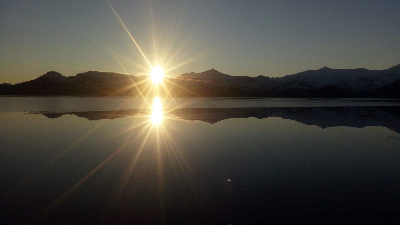 Sunset en terreno